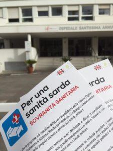 Distribuzione volantini davanti all'Ospedale Santissima Annunziata (SS)